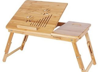 Folding table for notebook