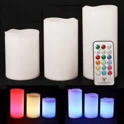 Candele con telecomando colorate