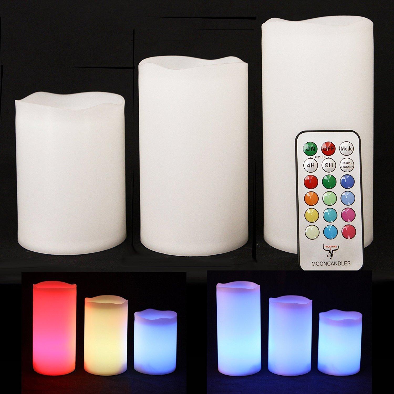 Candele con telecomando colorate idee regalo for Candele colorate