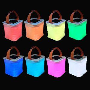 Lanterna gonfiabile LED solare - Tanti colori