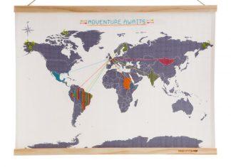 Mappa del mondo da ricamare