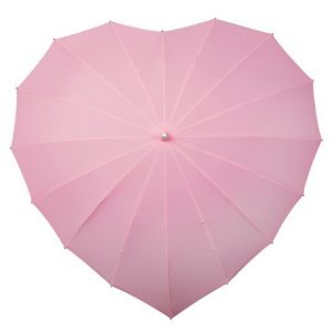 Ombrello a forma di cuore - Rosa