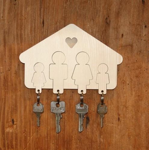 Portachiavi per la famiglia e per la coppia - Idee utili per la casa ...