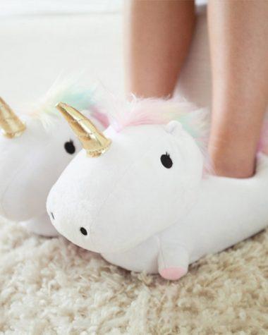 Pantofole unicorno luminose