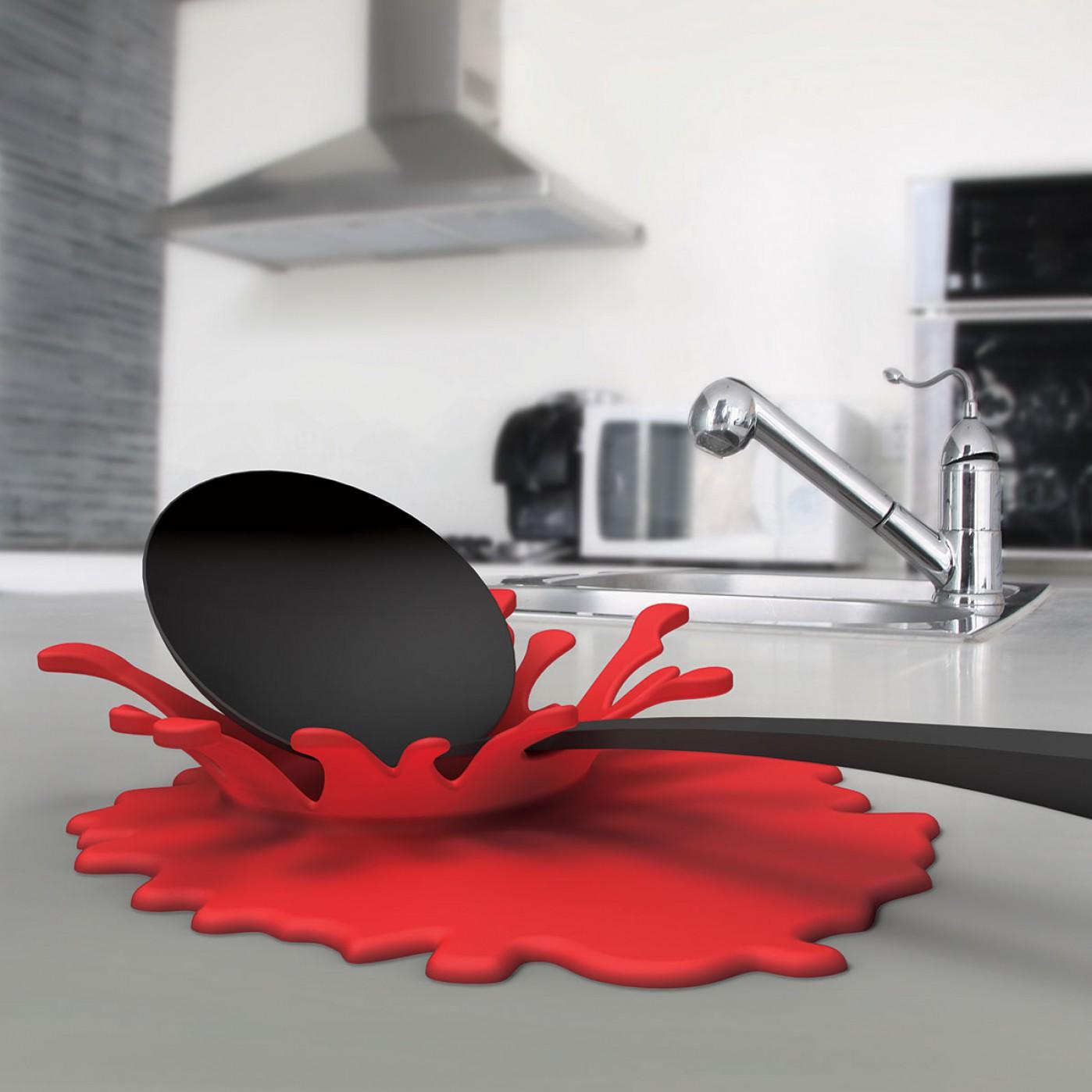 Accessori da cucina originali - Tagliere e poggia cucchiaio Splash ...