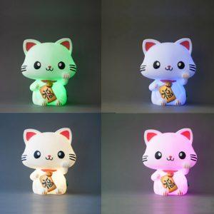 Lampada Maneki Neko - Cambia colore
