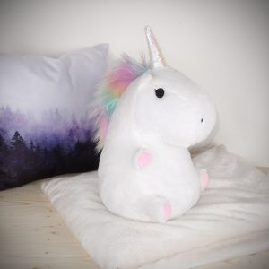Cuscino unicorno luminoso - Bianco