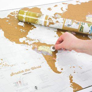 Idee regalo amica - Mappa gratta e viaggia