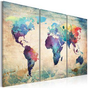 Idee regalo amica - Pannelli da parete mappa del mondo
