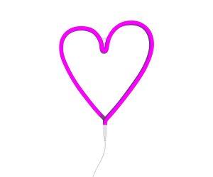 Lampada cuore al neon- Rosa