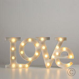 Regalo anniversario per Lei - Luce Led Love