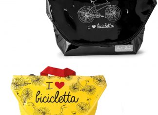 "Borsa colorata ""I love bicicletta"""