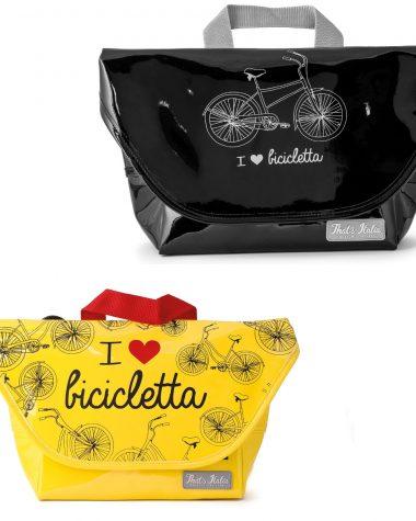 """Borsa colorata """"I love bicicletta"""""""