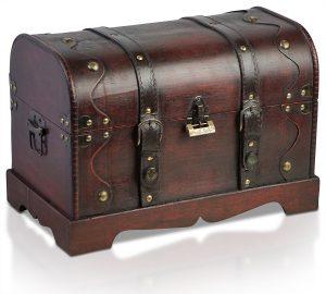 Cofanetto del tesoro con lucchetto