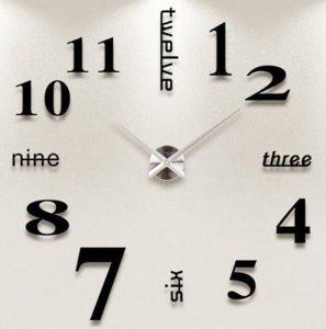 Orologio da parete tridimensionale Nero