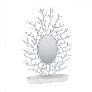 Portagioielli con specchio - Bianco