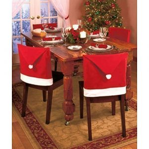 Copri sedie berretto di Babbo Natale
