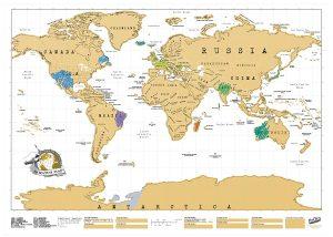 6 x 30Cm Gonfiabile Globe Atlante Mappa del mondo Terra Geografia Palla da spiaggia giocattolo saltare in aria