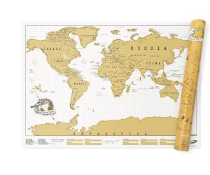 Mappa del mondo da grattare - Uomo