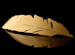 Segnalibro piuma Kosha - Oro giallo